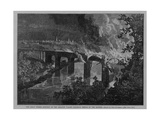 Burning Bridge During the Great Railroad Strike of 1877 Near Reading, PA Posters