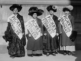 Strike Pickets During the New York Shirtwaist Strike of 1909 Photo