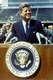 President Kennedy Speaking at Rice University, Sept. 9, 1962 Photo