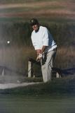 President George Bush Plays Golf at Kennebunkport Maine, Sept. 3, 1989 Photo