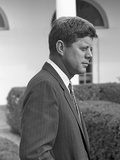 President John Kennedy in the White House Rose Garden. Oct. 24, 1961 Photo