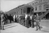 Germans in Hoboken, New Jersey, Rounded Up for Deportation During WW1 Print