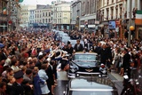 President Kennedy Is Cheered by the Citizens of Dublin, Ireland, Aug. 28, 1963 Photo
