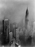 Smog Obscures View of Chrysler Building from Empire State Building, NYC, Ca. 1960 Prints