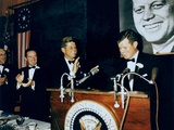 Sen. Edward Kennedy Introduces Pres. Kennedy at Brother, Fund Raising Dinner, 1963 Posters