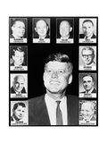 President John Kennedy and His Cabinet, Jan, 1961 Prints