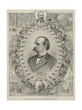 Terence Powderly and 32 Portraits of Leaders of the Knights of Labor, 1880s Poster