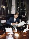 President Kennedy Signing Cuba Quarantine Proclamation, Oct. 23, 1962 Photo