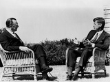 President Kennedy Is Interviewed by Newsman Walter Cronkite at Hyannis Port, 1963 Posters