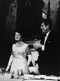 President Kennedy Joins in Applause for His Mother, Rose Fitzgerald Kennedy, 1962 Prints