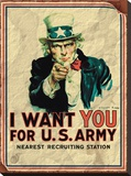 Uncle Sam: I Want You For U.S. Army - Vintage Stretched Canvas Print