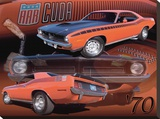 1970 AAR Cuda Stretched Canvas Print