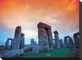 Stonehenge Stretched Canvas Print by Clifton Hill