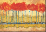 Amber Afternooon Riverbank Reproduction transférée sur toile par Toy Jones
