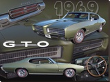 1969 GTO Stretched Canvas Print