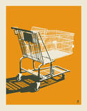 Shopping Cart Serigraph by  Methane Studios