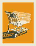 Shopping Cart Serigraph by  Methane Studios