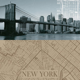 NYC Map I Posters by  The Vintage Collection