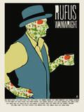 Rufus Tea Drinker Serigraph by  Methane Studios