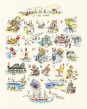 ABC of The Seaside Prints by Claire Fletcher