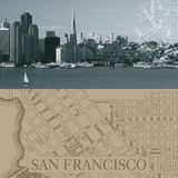 San Francisco Map I Posters by  The Vintage Collection