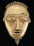 Gold Pendant Head, Popular Hair Adornments Among the Baule People; National Museum of African Art Papier Photo