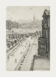 A View From The Window Of The Royal Technical College, Looking Towards Manchester, 1924 Premium Giclee Print by Laurence Stephen Lowry