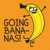 Going Bananas! Poster von Todd Goldman