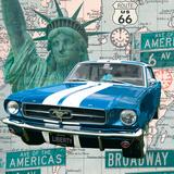 Cruising USA II Kunstdruck von Linda Wood