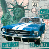 Cruising USA II Print by Linda Wood