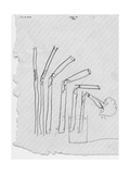 Sketch of Flexible Straw, circa late 1930s; Archives Center, NMAH Lámina giclée