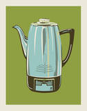 Coffee Pot - Green Serigraph by  Methane Studios