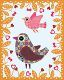 Folksy Friends IV Prints by Clara Wells