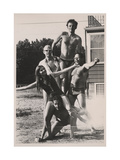 Oldenburg, Rauschenberg and Others at Scull's East Hampton residence, 1968. Archive of American Art Giclee Print