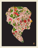 Floral Woman Serigraph by  Methane Studios