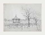 Bandstand, Peel Park, Salford, 1924 Premium Giclee Print by Laurence Stephen Lowry