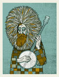 Banjo Man Art Print Serigraph by  Methane Studios