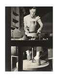 Marguerite Wildenhain at Work, circa 1940; Archive of American Art Giclee Print