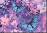 Violet Orchid Morpheus Stretched Canvas Print by Alixandra Mullins