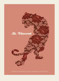 St. Vincent - Tiger Serigraph by  Methane Studios