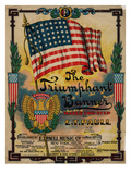 "Sheet Music Covers: ""The Triumphant Banner"" Composed by E. T. Paull, 1907 Giclee Print"
