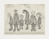 Family Group, 1956 Premium Giclee Print by Laurence Stephen Lowry