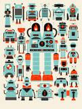 Robots, Robots Serigraph by  Methane Studios