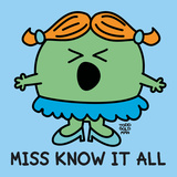 Miss Know It All Poster von Todd Goldman