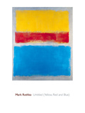 Untitled (Yellow, Red and Blue) Poster di Mark Rothko