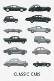 Classic Cars Poster by Clara Wells
