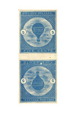 5-Cent Buffalo Balloon Stamps Giclee Print