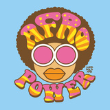 Afro Power Print by Todd Goldman