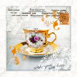 Morning Tea IV Poster von Ingrid Van Den Brand