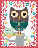 Folksy Friends II Prints by Clara Wells